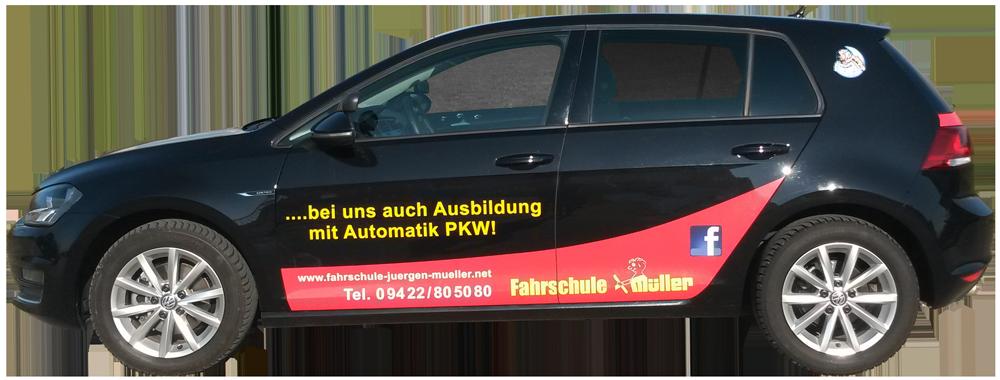 Das Fahrschulauto der Fahrschule Jürgen Müller.